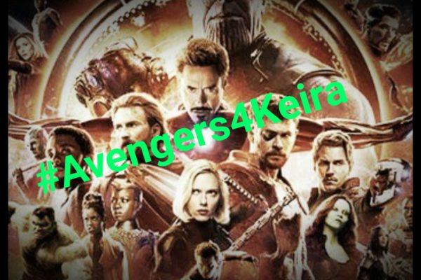 #Avengers4Keira 死の宣告をうけたKeiraの願いを叶えよう
