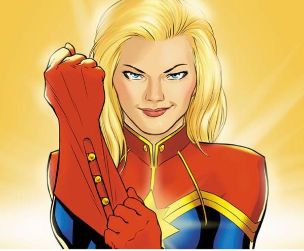 キャプテン・マーベルの新しいイラストが映画キャラクターグッズから発見。